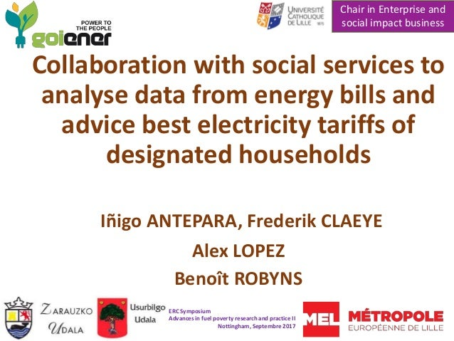 Collaboration with social services to analyse data from