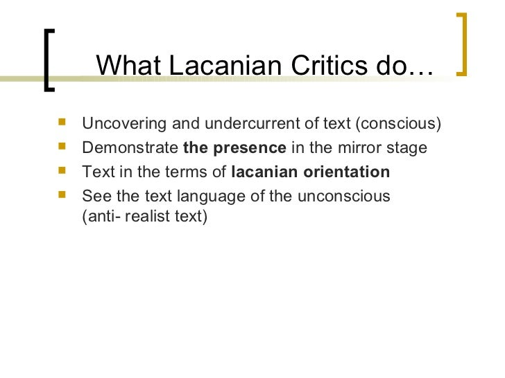 "lacan mirror stage essay Through the theoretical framework of jacques lacan's ""mirror stage,"" this study employs statistical analysis to code the frequency with which spielberg utilizes the ""gaze"" in his work to emotionally influence viewers by providing them with desirable images of the human face this study examines if these psychologically."