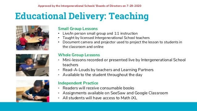 Educational Delivery: Teaching Small Group Lessons • Live/In person small group and 1:1 instruction • Taught by licensed I...
