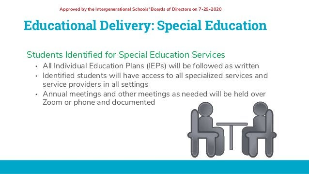 Educational Delivery: Special Education Students Identified for Special Education Services • All Individual Education Plan...
