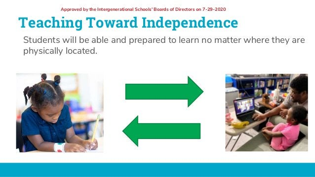Teaching Toward Independence Students will be able and prepared to learn no matter where they are physically located. Appr...