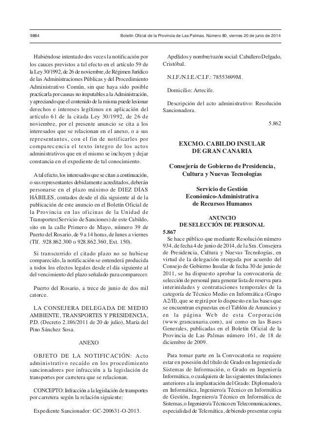 bolet n oficial de la provincia de las palmas viernes 20