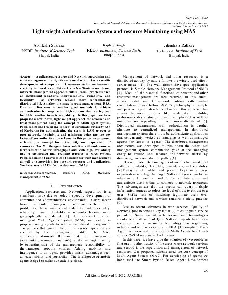 ISSN: 2277 – 9043                                                   International Journal of Advanced Research in Computer...