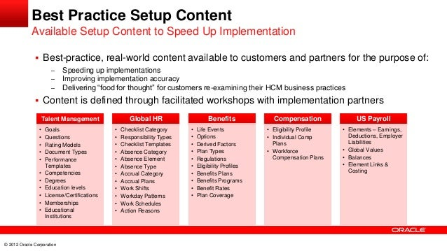 20 Best Practices For Fusion Hcm Cloud Implementation