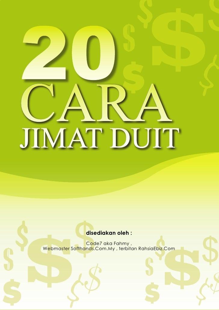 20 o $   INFO : 20 CARA MUDAH JIMAT DUIT         CARA     JIMAT DUIT                                                      ...