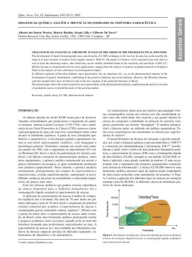 Quim. Nova, Vol. 28, Suplemento, S107-S111, 2005                                                                          ...