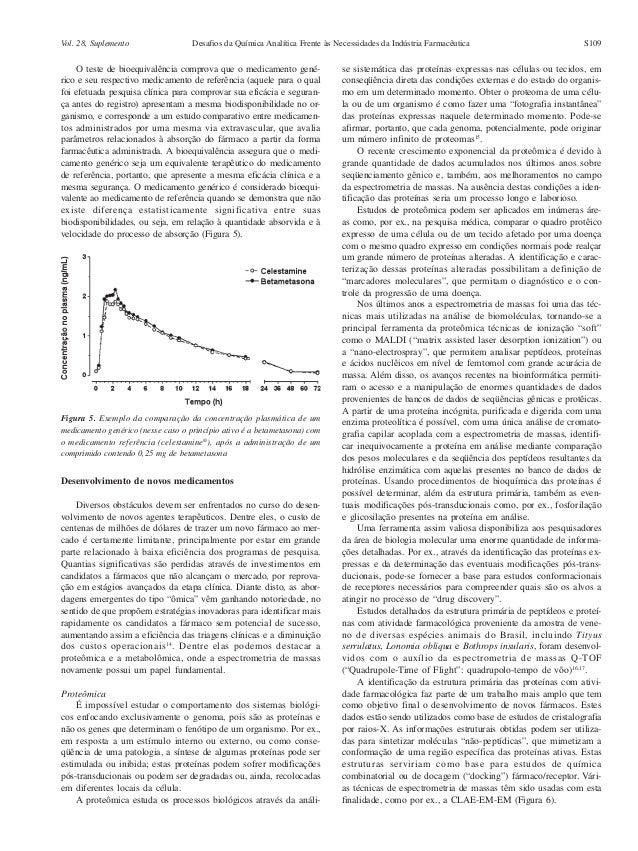 Vol. 28, Suplemento                 Desafios da Química Analítica Frente às Necessidades da Indústria Farmacêutica        ...