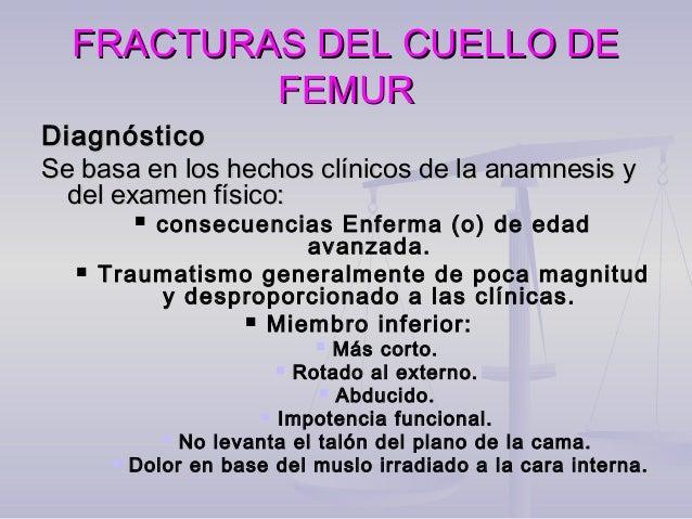 FRACTURAS DEL CUELLO DEFRACTURAS DEL CUELLO DE FEMURFEMUR  Radiografía::  Radiografía de pelvis con rotación interna de ...
