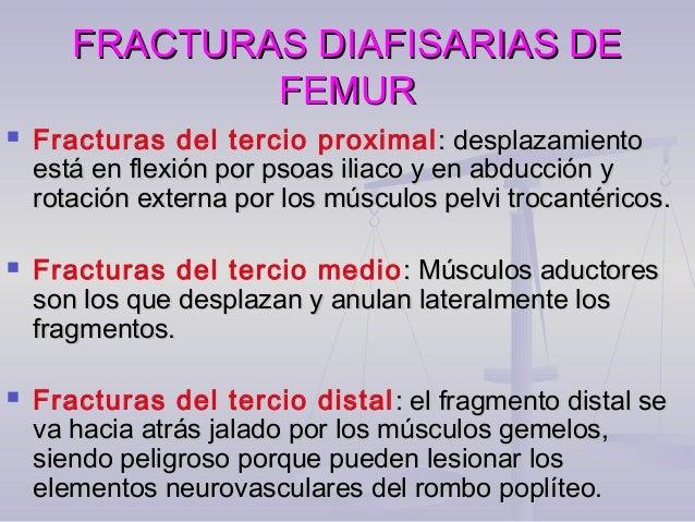 FRACTURAS DIAFISARIAS DEFRACTURAS DIAFISARIAS DE FEMURFEMUR  El examen radiográfico es básico pues nos va a indicar el ti...