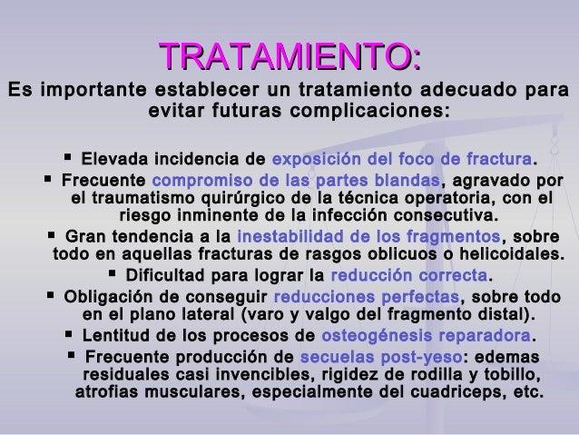 TRATAMIENTO:TRATAMIENTO: Los materiales usados son:Los materiales usados son:  Tornillos: Solos se aplican en fracturas d...