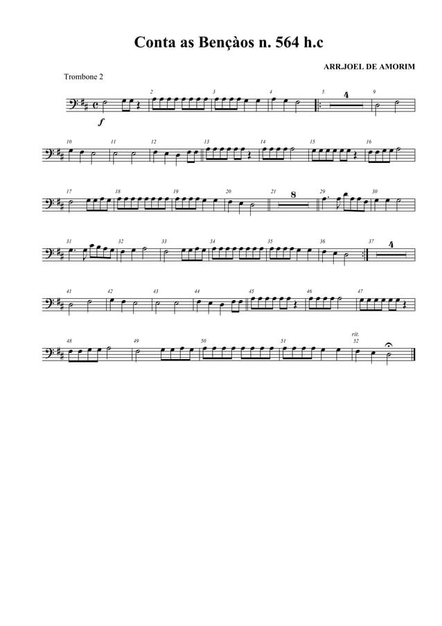 Hinos da Harpa Cristã.2º Trombone
