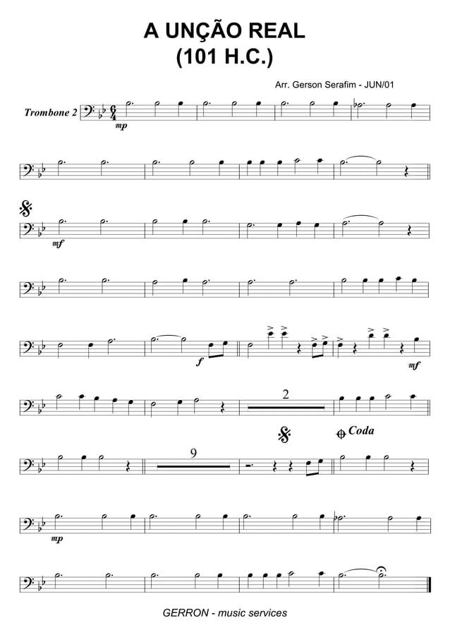 Trombone 2 ========================? bb 6 4 ˙»»»» . P ˙»»»» œ»»»» ˙»»»» . ˙»»»» œ»»»» ˙»»»» . ˙»»»» œ»»»» b˙»»»» . ˙»»»» œ...