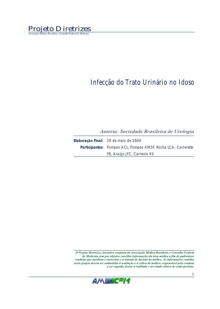 Projeto DiretrizesAssociação Médica Brasileira e Conselho Federal de Medicina                                             ...