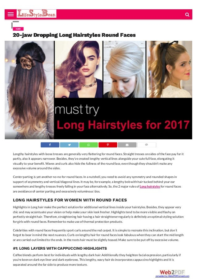 20 Jaw Dropping Long Hairstyles Round Faces