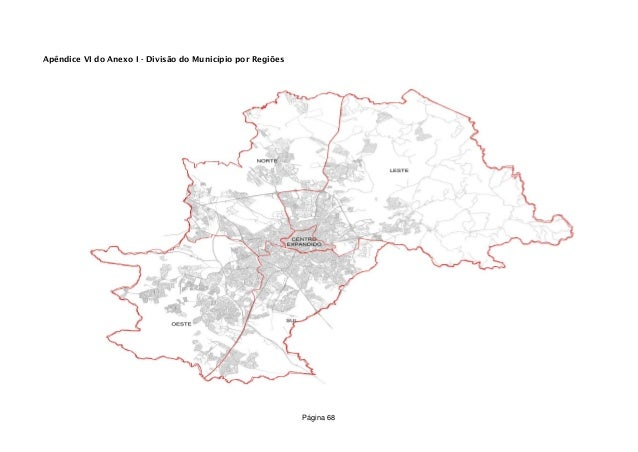 Apêndice VI do Anexo I - Divisão do Município por Regiões Página 68