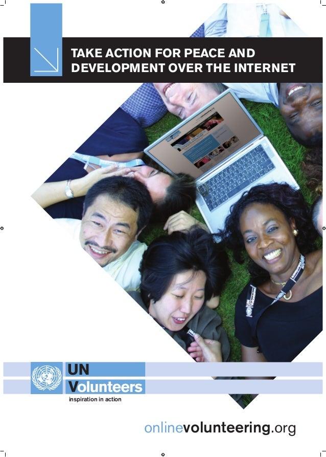 Take action for peace and development over the internet onlinevolunteering.org em / A4 Vertical / tagline / CMYK ed inspir...