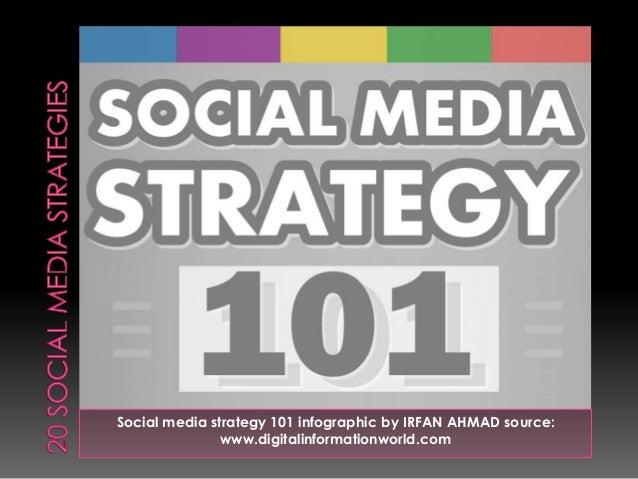 Social media strategy 101 infographic by IRFAN AHMAD source: www.digitalinformationworld.com
