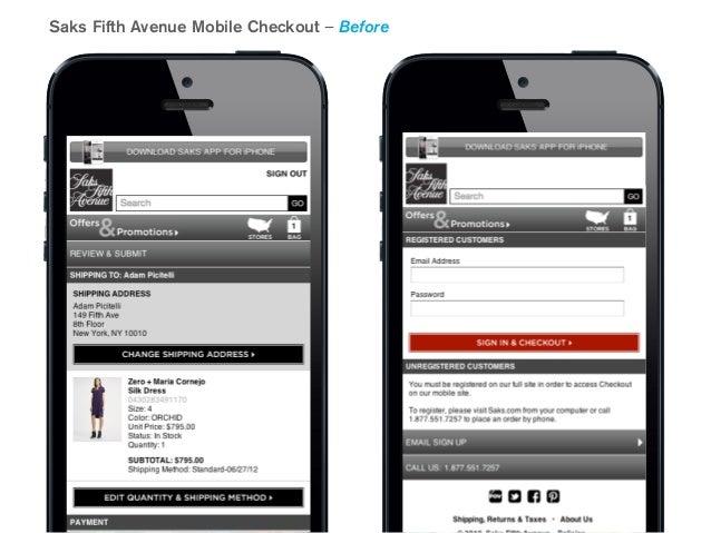 c61c7c7e1c9 Saks Fifth Avenue Mobile Checkout