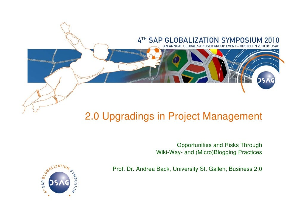 2.0 Upgradings in Project Management                              Opportunities and Risks Through                      Wik...