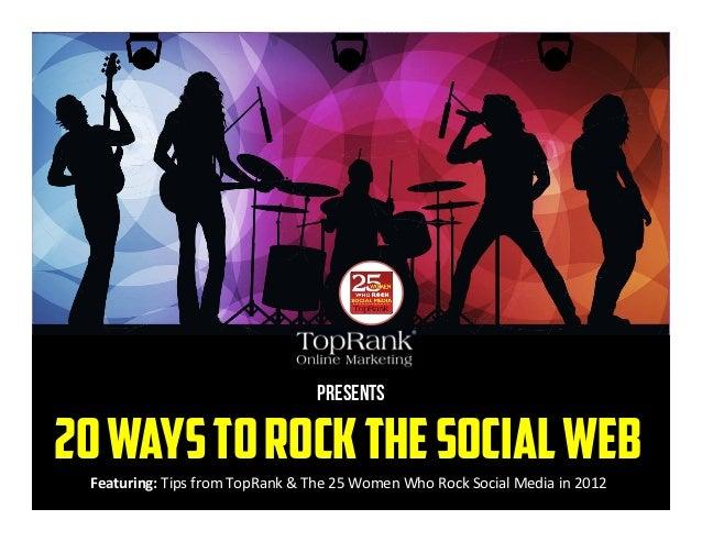 20 Ways to Rock Social Media - Visual eBook