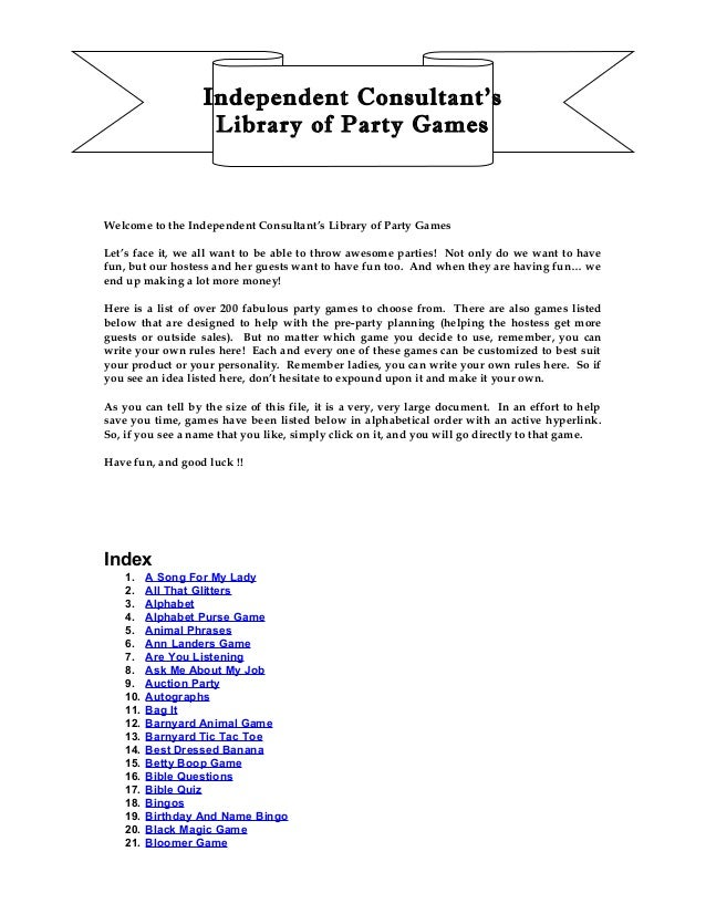 200 party games