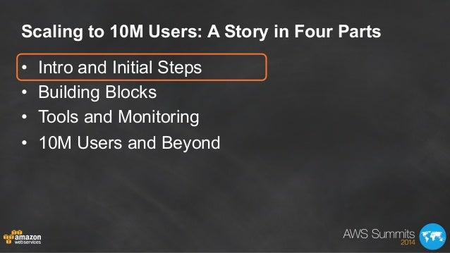AWS Summit London 2014 | Scaling on AWS for the First 10 Million Users (200) Slide 2