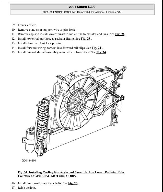 2000 01 engine cooling rh slideshare net 2007 saturn aura radiator diagram 2003 Saturn L200 Engine Diagram