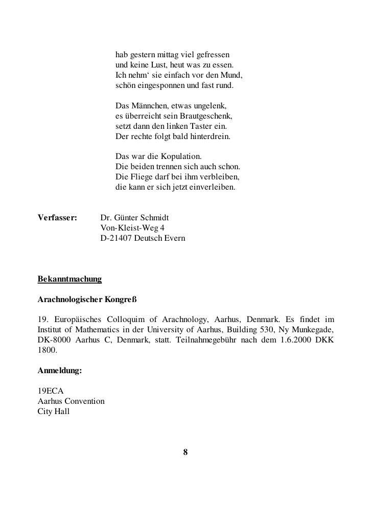 DK-8000 Aqarhus C Denmark  Studenten zahlen DKK 1400, Begleitpersonen DKK 1200.  Am 22.6.2000 findet eine Exkursion nach B...