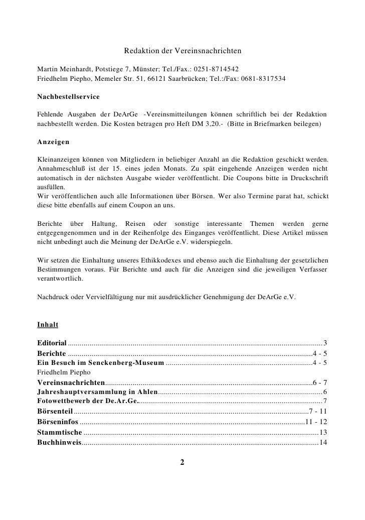 DeArGe Mitteilungen 8/2000 Slide 2