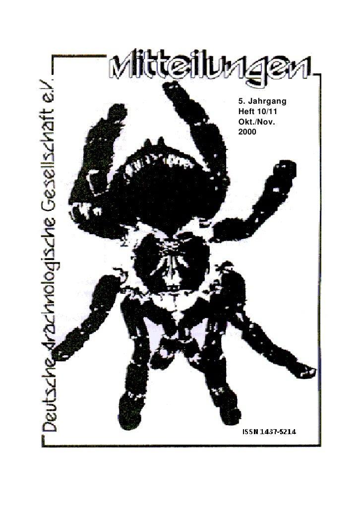 5. Jahrgang Heft 10/11 Okt./Nov. 2000