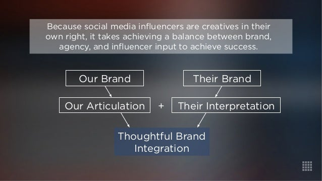 Because social media influencers are creatives in their  own right, it takes achieving a balance between brand,  agency, a...