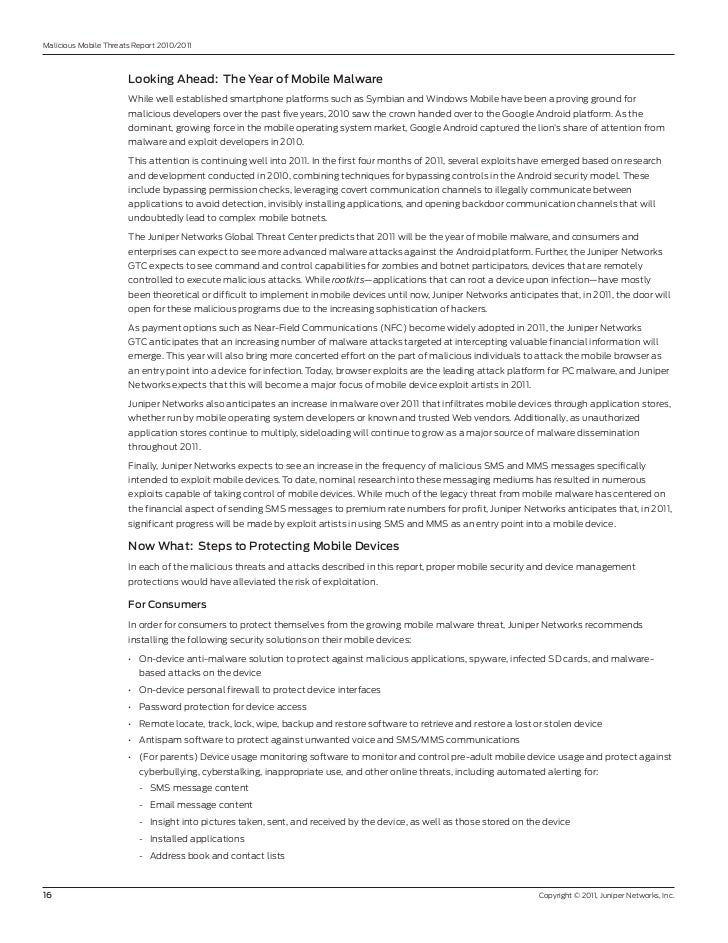 Malicious Mobile Threats report 2010/2011                       LookingAhead:TheYearofMobileMalware                ...