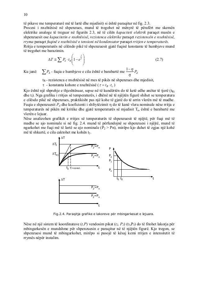 10 të pikave me temperaturë më të lartë dhe mjedisit) si është paraqitur në fig. 2.3. Procesi i nxehtësisë në shpenzues, m...