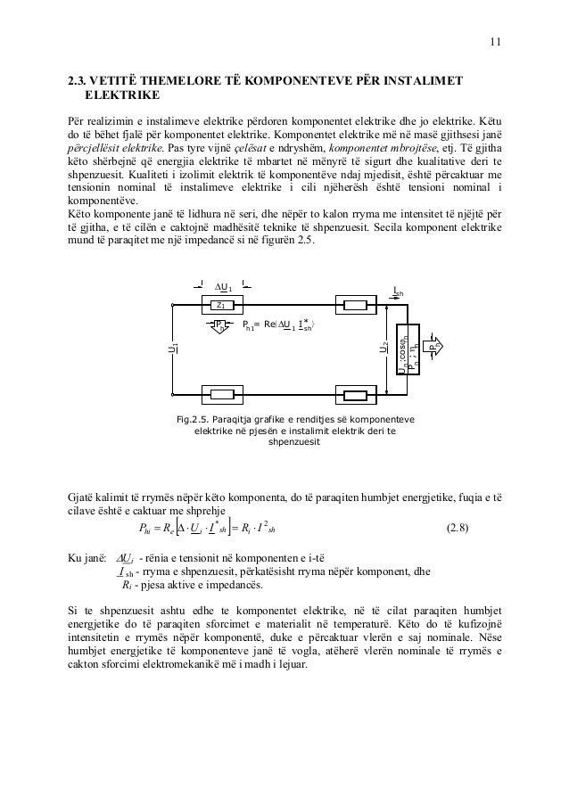 11 2.3. VETITË THEMELORE TË KOMPONENTEVE PËR INSTALIMET ELEKTRIKE Për realizimin e instalimeve elektrike përdoren komponen...