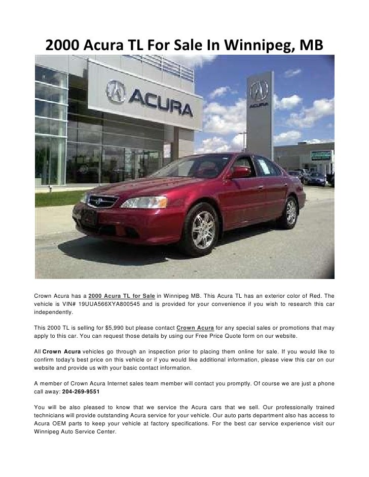 Acura TL For Sale In Winnipeg MB - 2000 acura tl parts
