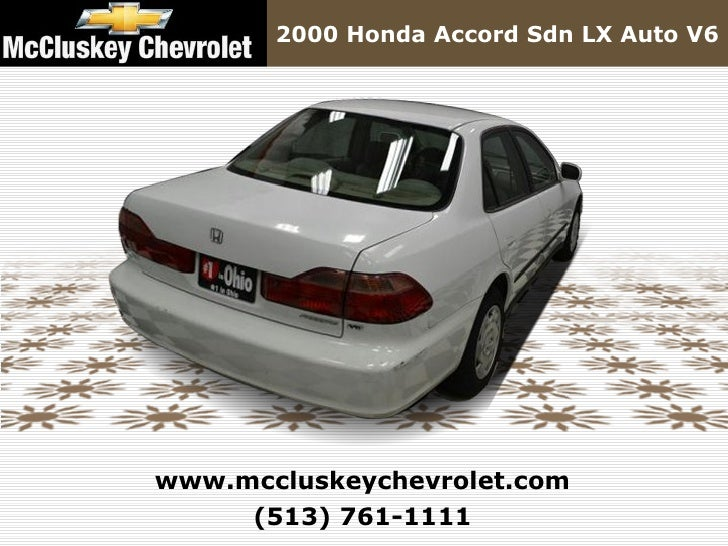 ... 14. 2000 Honda Accord Sdn LX Auto ...