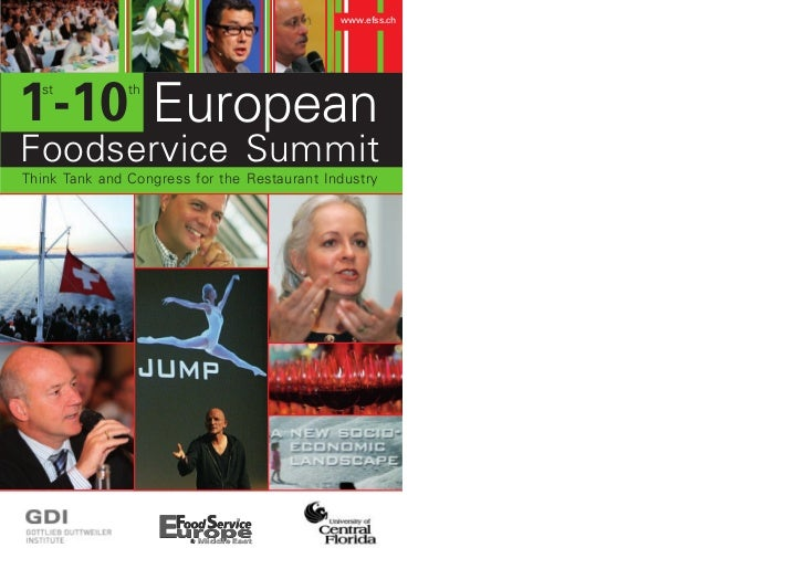 www.efss.ch1 -10 European  st           thFoodservice SummitThink Tank and Congress for the Restaurant Industry
