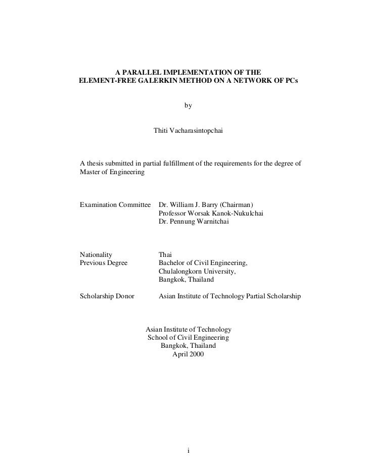 A PARALLEL IMPLEMENTATION OF THEELEMENT-FREE GALERKIN METHOD ON A NETWORK OF PCs                                     by   ...