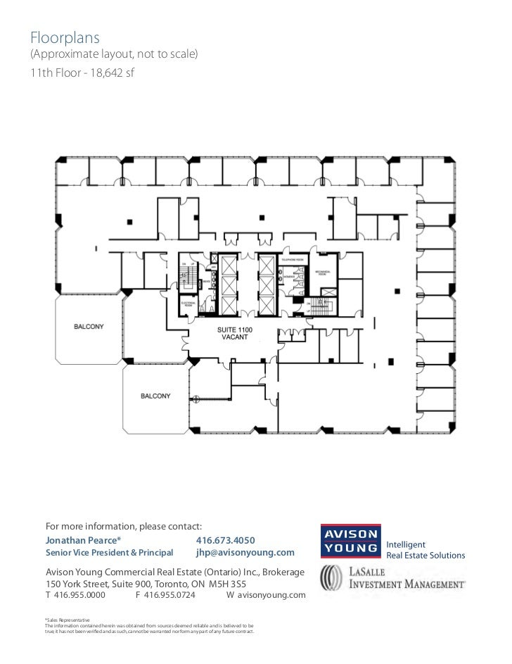 Toronto financial core 2000 sf office space for lease for 11 brunel court floor plans