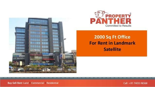 2000 Sq Ft Office For Rent in Landmark Satellite