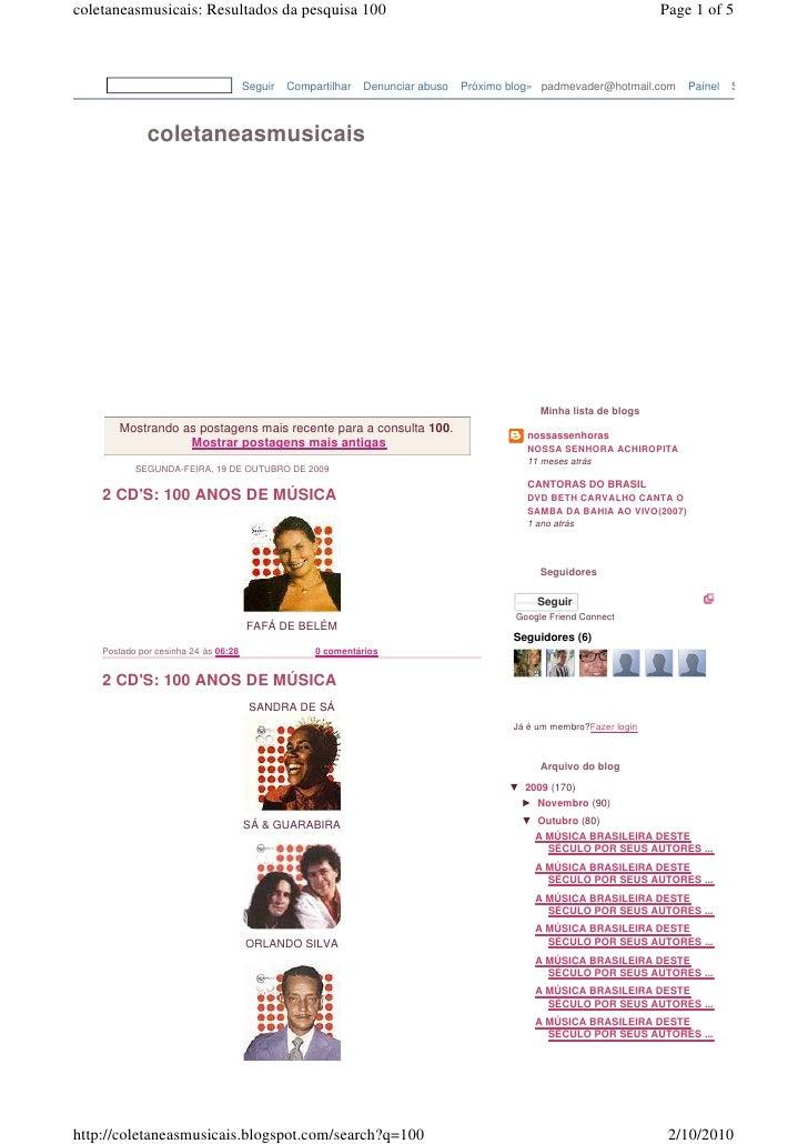 coletaneasmusicais: Resultados da pesquisa 100                                                                       Page ...