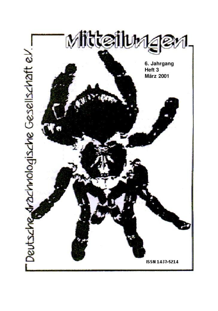 6. Jahrgang Heft 3 März 2001