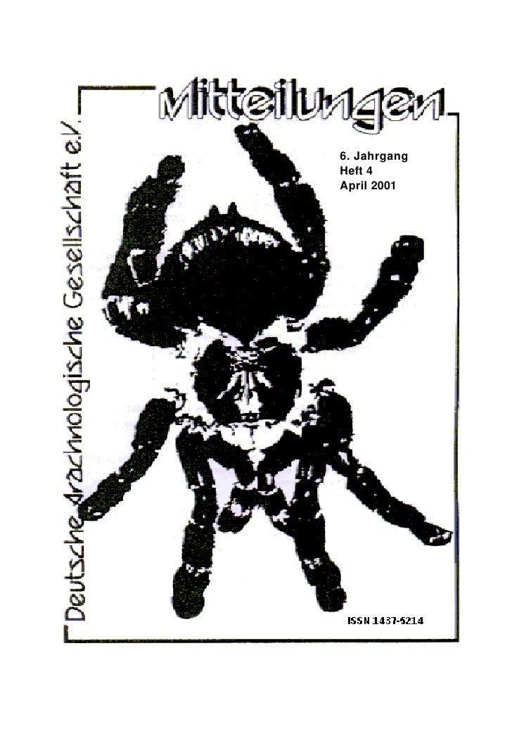 6. Jahrgang Heft 4 April 2001