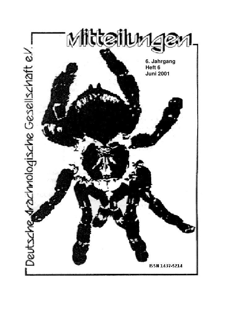 6. Jahrgang Heft 6 Juni 2001
