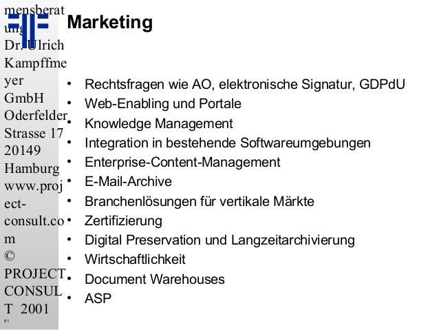 DE] Enterprise Content Management | Dr. Ulrich Kampffmeyer | Eurofor…
