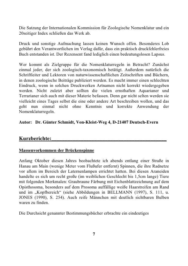 Die Satzung der Internationalen Kommission für Zoologische Nomenklatur und ein 20seitiger Index schließen das Werk ab.  Dr...