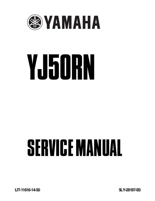 2001 yamaha yj50 rn vino service repair manual