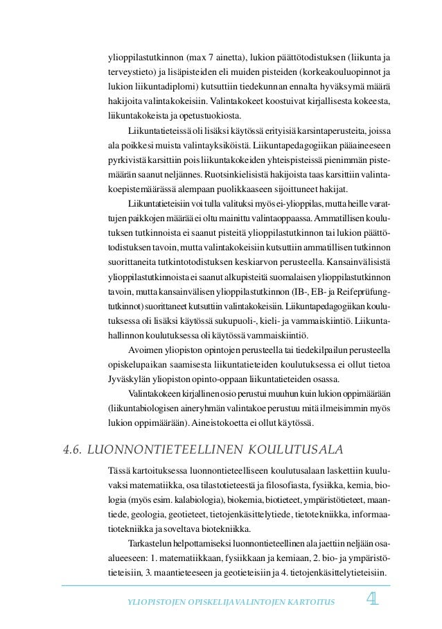 Helsingin Yliopisto Kemia