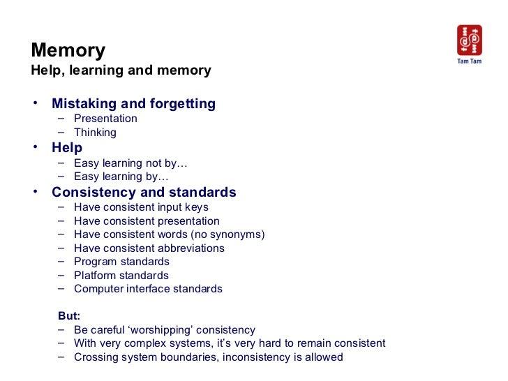 Memory Help, learning and memory <ul><li>Mistaking and forgetting </li></ul><ul><ul><li>Presentation </li></ul></ul><ul><u...