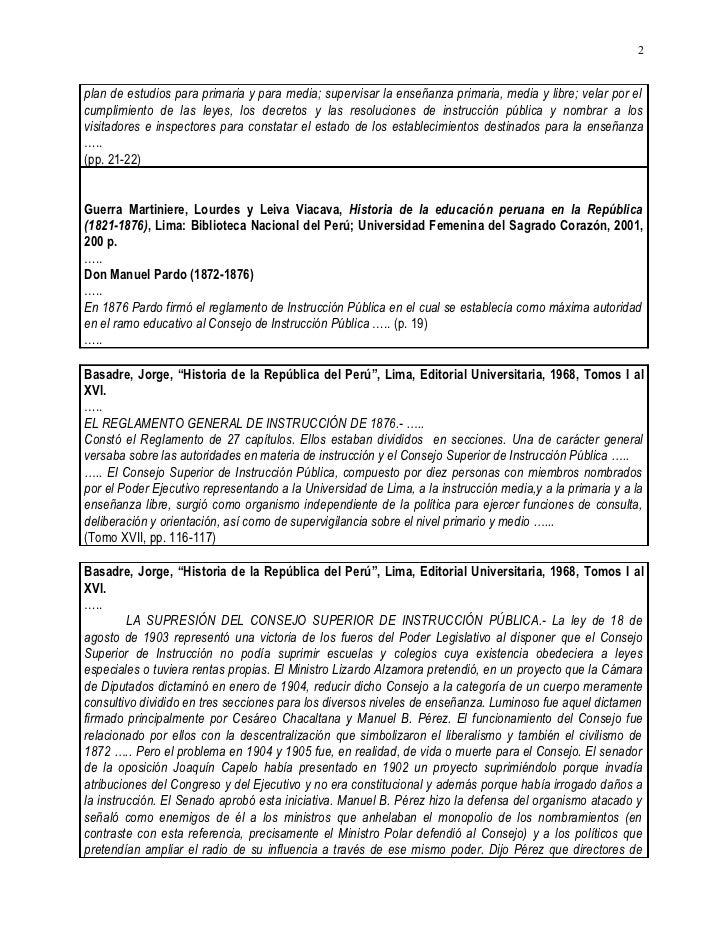 20020330&20050528.CARLOS MALPICA FAUSTOR HISTORIA 1869 A 2002 DE CONSEJOS SUPERIORES Y NACIONALES DE EDUCACION EN EL PERU Slide 2